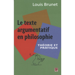 Le texte argumentation en philosophie by Louis Brunet : Introduction