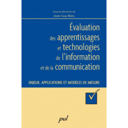 Évaluation des apprentissages, supervised by Jean-Guy Blais : Content