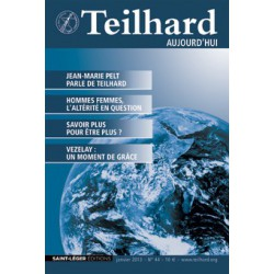 Revue Teilhard de Chardin Aujourd'hui N°44 : Contents
