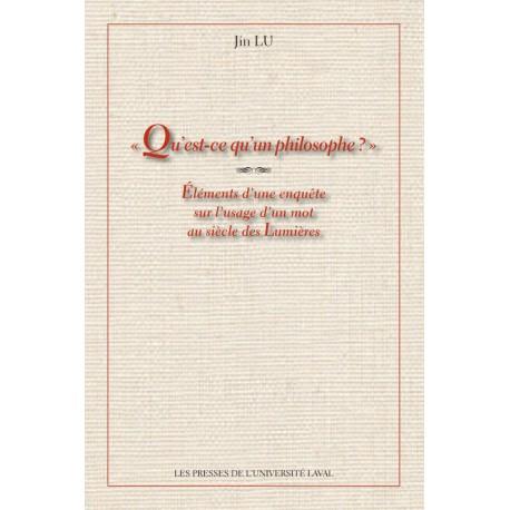 Qu'est-ce qu'un philosophe ? de Jin Lu : Table of contents