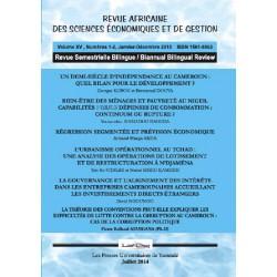 Revue africaine Sciences économiques et Gestion n° 1 et 2 : Table of contents