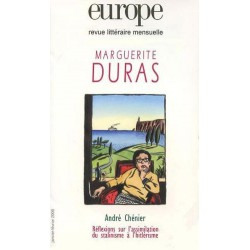 Revue Europe : Marguerite Duras : Table of contents