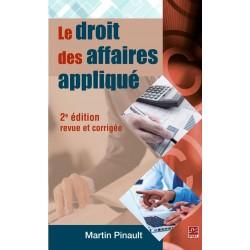 Le droit des affaires appliqué de Martin Pinault : Chapter 7