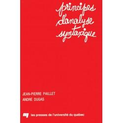 Principes d'analyse syntaxique par JP Paillet et A. Dugas / LA SYNTAXE BLOOMFIELDIENNE