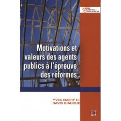 Motivations et valeurs des agents publics à l'épreuve des réformes : Contents