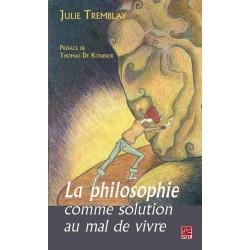 La philosophie comme solution au mal de vivre, de Julie Tremblay sur artelittera.com