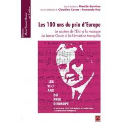 Les 100 ans du prix d'Europe, de Mireille Barrière sur artelittera.com